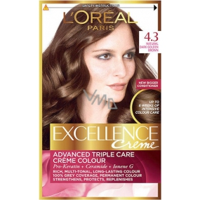 Loreal Paris Excellence Creme Haarfarbe 4,3 Braungold